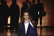 Alessandra Ambrosio walks the runway at TOMMYNOW London Spring 2020 at Tate Modern on February 16, 2020 in London, England.