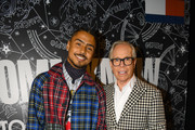 Quincy and Tommy Hilfiger attend TOMMYNOW New York Fall 2019 - Front Row & Atmosphere at The Apollo Theater on September 08, 2019 in New York City.