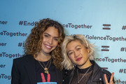 Cleo Wade and Milck attend the TOMS' End Gun Violence Together Rally at Union Market on February 11, 2019 in Washington, DC.