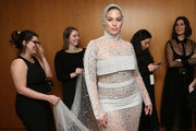 Model Ashley Graham poses backstage for TRESemme at Christian Siriano for NYFW on February 9, 2019 in New York City.