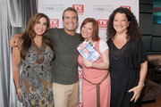 (L-R)Jacqueline Laurita, Andy Cohen, Caroline Manzo and Debra Birnbaum, editor in chief of TV Guide Magazine attend the TV Guide Magazine & Andy Cohen Book Signing Party on June 21, 2012 in New York City.