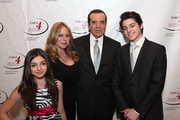 Gabriella Rose, Gianna Ranaudo, Lifetime Achievement Award recipient actor Chazz Palminteri and Dante Lorenzo attend the Table 4 Writers Foundation Second Annual Awards Gala at New York Athletic Club on March 27, 2014 in New York City.