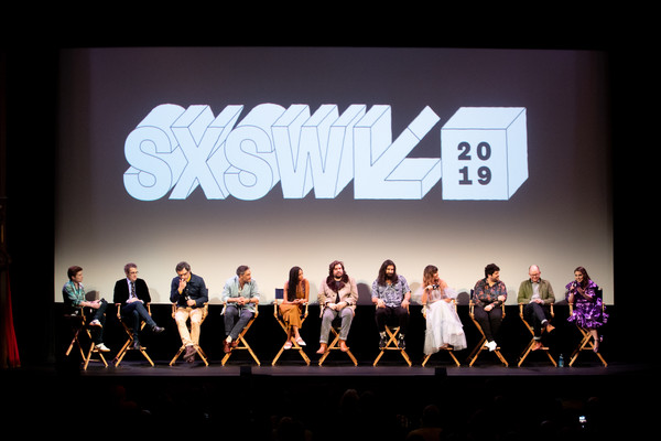 'What We Do In The Shadows' Premiere - 2019 SXSW Conference And Festivals [text,stage,performance,font,event,design,performing arts,performance art,team,talent show,what we do in the shadows,festivals,sxsw conference,paul simms,jemaine clement,harvey guill\u00e3\u00a9n,kayvan novak,natasia demetriou,matt berry,stefani robinson]