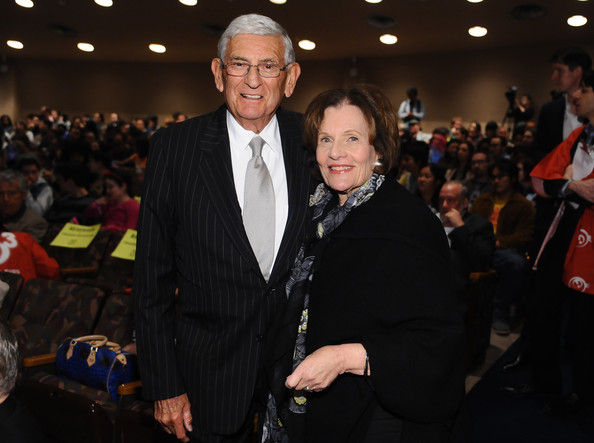 Eli Broad and Edythe Broad attend Takashi Murakami's international film premiere of Jellyfish Eyes at LACMA on April 8, 2013 in Los Angeles, California.