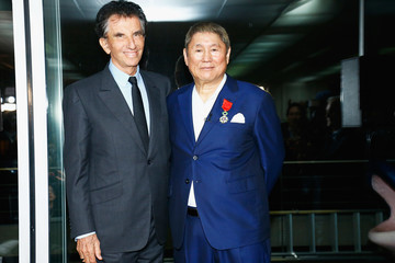 Takeshi Kitano The Japenese Artist Takeshi Kitano Receiving The French Legion Of Honor By Jack Lang