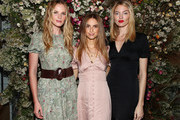 (L-R) Anne Vyalitsyna, Talita von Furstenberg and Martha Hunt attend Talita von Furstenberg Celebrates Her Second Collection on October 17, 2019 at La Mercerie in New York City.