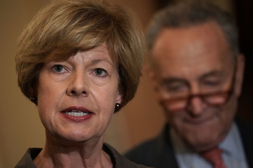 Tammy Baldwin Senate Lawmakers Address The Media After Their Weekly Policy Luncheons