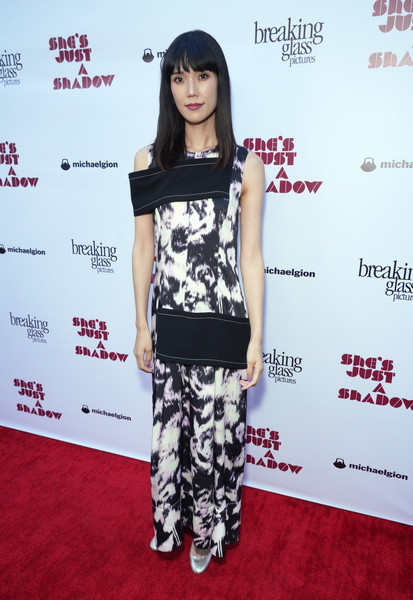 Premiere Of Breaking Glass Pictures' 'She's Just A Shadow' - Arrivals [breaking glass pictures,shes just a shadow,clothing,red carpet,hairstyle,carpet,shoulder,bangs,flooring,black hair,premiere,long hair,tao okamoto,arrivals,arclight hollywood,california,premiere,premiere]