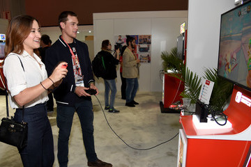 Taylor John Smith Nintendo Hosts Celebrities at 2017 E3 Gaming Convention