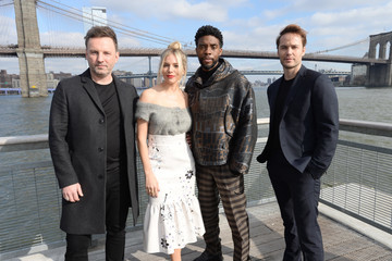 Taylor Kitsch Chadwick Boseman And The Cast of '21 Bridges' In NYC