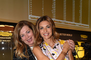(L-R) Stefania Alessandri and Martina Colombari attend the Technogym Listing Ceremony at Palazzo Mezzanotte on May 3, 2016 in Milan, Italy. Technogym is the world leader in the construction of equipment for gyms, founded in 1983 by Nerio Alessandri, and was listed today on the Milan Stock Exchange.