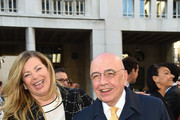 (L-R) Stefania Alessandri and Adriano Galliani attend the Technogym Listing Ceremony at Palazzo Mezzanotte on May 3, 2016 in Milan, Italy. Technogym is the world leader in the construction of equipment for gyms, founded in 1983 by Nerio Alessandri, and was quoted today on the Milan Stock Exchange.