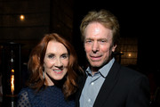 Linda Bruckheimer and Jerry Bruckheimer attend Ted Sarandos' 2019 Annual Netflix Emmy Nominee Toast at a private residence on September 20, 2019 in Los Angeles, California.