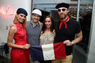 Teddy Sears STRIIIKE And Laura Mericer Celebrate Bastille Day
