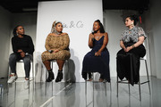 Venus Williams, Lizzo, Tracy Reese, and Nadia Boujarwah speak onstage during the #TeeUpChange Campaign Launch Hosted By Dia&Co and CFDA at theCURVYcon on September 7, 2018 in New York City.