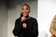 Venus Williams speaks onstage during #TeeUpChange Campaign Launch Hosted By Dia&Co and CFDA at theCURVYcon on September 7, 2018 in New York City.