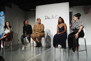 Julie Tong, Venus Williams, Lizzo, Tracy Reese, and Nadia Boujarwah speak onstage during the #TeeUpChange Campaign Launch Hosted By Dia&Co and CFDA at theCURVYcon on September 7, 2018 in New York City.