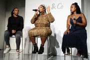 Venus Williams, Lizzo, and Tracy Reese speak onstage during the #TeeUpChange Campaign Launch Hosted By Dia&Co and CFDA at theCURVYcon on September 7, 2018 in New York City.
