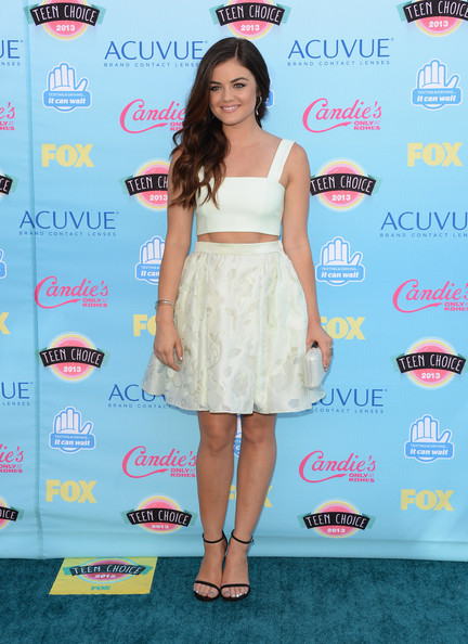Actress Lucy Hale attends the Teen Choice Awards 2013 at Gibson Amphitheatre on August 11, 2013 in Universal City, California.