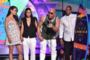 (L-R) Actors Jordana Brewster, Michelle Rodriguez, Vin Diesel and Ludacris accept the Choice Movie: Action Award for Furious 7 onstage during the Teen Choice Awards 2015 at the USC Galen Center on August 16, 2015 in Los Angeles, California.