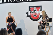 Jessica Simpson (L) and Editor in Cheif Amy Astley speak during Teen Vogue's 10th Annual Fashion Universityon March 14, 2015 in New York City.