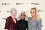 (L-R) Vera Papisova, Jackie Aina, and Gigi Gorgeous attend The Teen Vogue Summit 2018: Serena Williams and Naomi Wadler at 72andSunny on December 1, 2018 in Los Angeles, California.