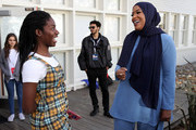 Maame Biney (L) and Ibtihaj Muhammad attend The Teen Vogue Summit 2018 at 72andSunny on December 1, 2018 in Los Angeles, California.