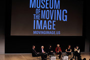 Panel Moderator Charles Isherwood with actors Eli Wallach, Bryce Dallas Howard, Ellen Burstyn, director Jodie Markell and actress Elaine Stritch onstage at the Tennessee Williams on Screen and Stage panel discussion at The Times Center on December 9, 2009 in New York City.