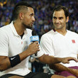 Roger Federer and Nick Kyrgios Photos