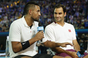 Roger Federer and Nick Kyrgios Photos Photo