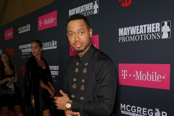 Terrence J SHOWTIME, WME|IMG, and MAYWEATHER PROMOTIONS VIP Pre-Fight Party Arrivals on the T-Mobile Magenta Carpet for Mayweather VS McGregor