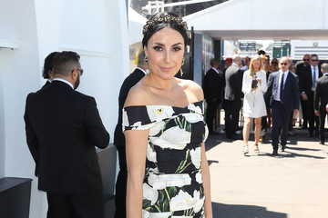 Terry Biviano Celebrities Attend Derby Day