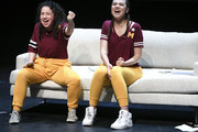 """Sarah Steele and Solea Pfeiffer perform during """"The 24 Hour Musicals"""" at The Irene Diamond Stage, Pershing Square Signature Center on June 17, 2019 in New York City."""