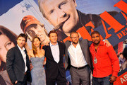 The actors of 'A-Team', Sharlto Copley (L-R) Jessica Biel, Lieam Neeson, director Joe Carnahan and actor Quinton Rampage Jackson pose on the red carpet for photographers at the Germany Preview of 'The A-Team on July 29, 2010 in Berlin, Germany.