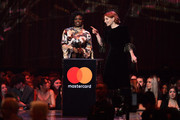 Clara Amfo and Alice Levine present Tom Walker with the Best British Breakthrough Award during The BRIT Awards 2019 held at The O2 Arena on February 20, 2019 in London, England.