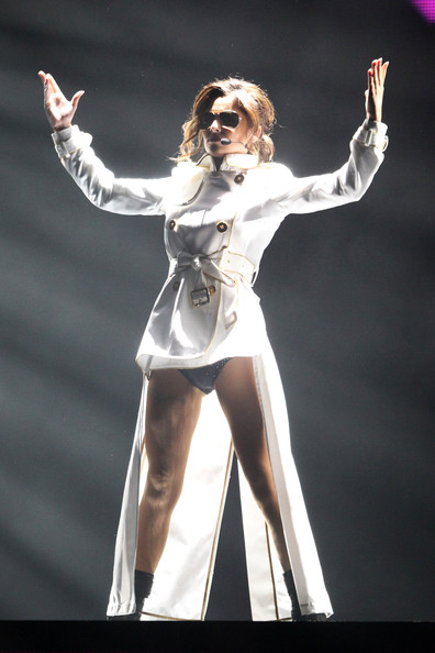 (UK TABLOID NEWSPAPERS OUT) Cheryl Cole performs at The Brit Awards 2010 held at Earls Court on February 16, 2010 in London, England.