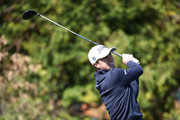 Justin Thomas of United States plays a tee shot on the 3rd hole during the first round of the CJ Cup at the Nine Bridges on October 18, 2018 in Jeju, South Korea.