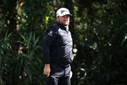 Graeme McDowell of Northern Ireland on the 7th hole during the first round of the CJ Cup at the Nine Bridges on October 18, 2018 in Jeju, South Korea.