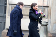(L-R) Prince Daniel, Duke of Vastergotland and Crown Princess Victoria of Sweden participate in a celebration for the Crown Princess' name day at the Stockholm Royal Palace on March 12, 2018 in Stockholm, Sweden.