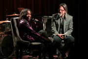 Estelle speaks with  GRAMMY Museum Artistic Director Scott Goldman at The Drop: Estelle at The GRAMMY Museum on December 03, 2018 in Los Angeles, California.