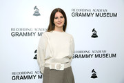 Lana Del Rey attends The Drop: Lana Del Rey at the GRAMMY Museum on October 13, 2019 in Los Angeles, California.