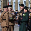 The Duchess of Cambridge The Duke And Duchess Of Cambridge Attend The Irish Guards St Patrick's Day Parade