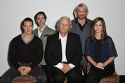 """Alexander Dreymond, David Dawson, Rutger Hauer, Rune Temte and Emily Cox attend a photocall for """"The Last Kingdom"""" at Charlotte Street Hotel on September 8, 2015 in London, England."""