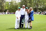 Phil Mickelson of the United States, wife Amy, son Evan and daughter during the Par 3 Contest prior to the start of the 2016 Masters Tournament at Augusta National Golf Club on April 6, 2016 in Augusta, Georgia.