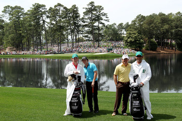 Rory McIlroy Graeme McDowell The Masters - Preview Day Three
