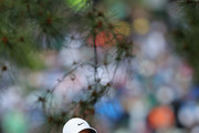 Rory McIlroy of Northern Ireland reacts on the fifth hole during the third round of the 2018 Masters Tournament at Augusta National Golf Club on April 7, 2018 in Augusta, Georgia.