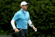 Rory McIlroy of Northern Ireland walks across the sixth green during the third round of the 2018 Masters Tournament at Augusta National Golf Club on April 7, 2018 in Augusta, Georgia.