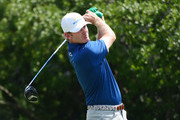 Brandt Snedeker of the United States plays his shot from the third tee  during the final round of The Northern Trust at Liberty National Golf Club on August 11, 2019 in Jersey City, New Jersey.