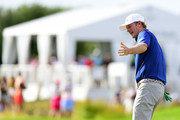 Brandt Snedeker of the United States reacts on the 17th green during the final round of The Northern Trust at Liberty National Golf Club on August 11, 2019 in Jersey City, New Jersey.