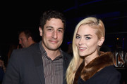 Actors Jason Biggs (L) and Jaime King attend The Note Pad Powered by the Samsung Galaxy Note 4 on October 24, 2014 in Los Angeles, California.